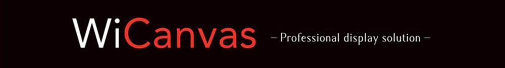 WiCanvas ロゴ,超薄型デジタルサイネージ