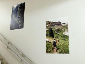 壁に貼った吸着ターポリン(神奈川県庁にて)