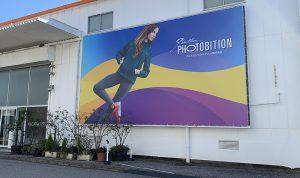 屋外の広告・看板、大型ターポリン