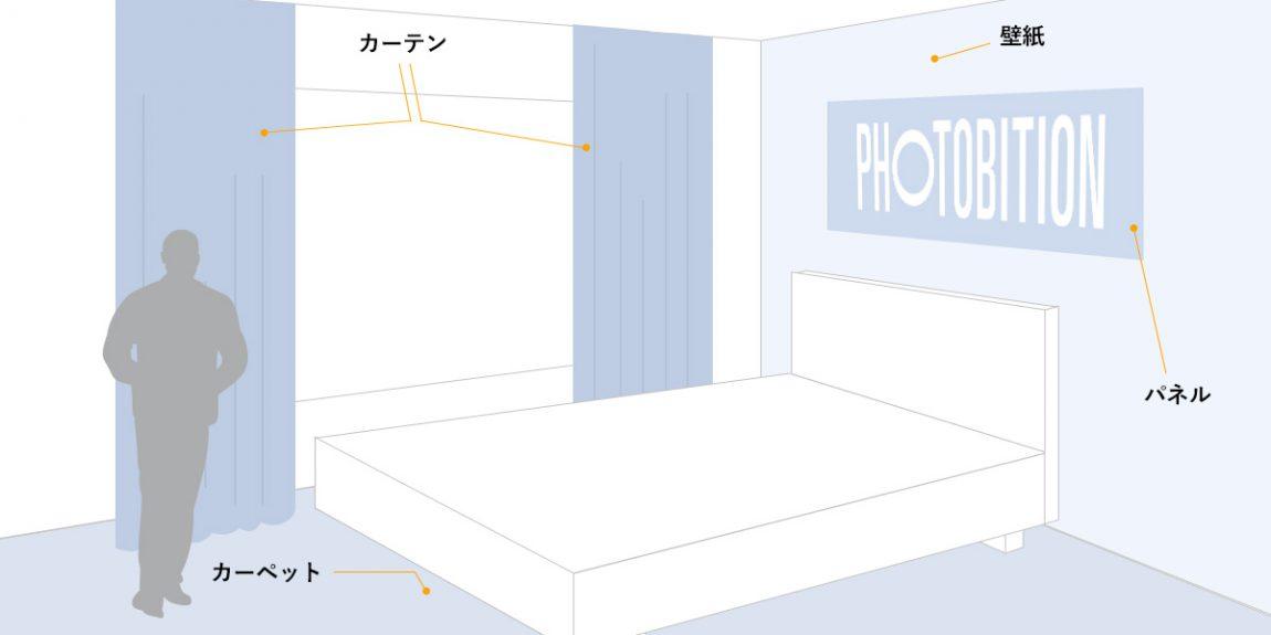 カーテン、カーペット、壁紙、パネルなどを揃えて、統一した世界観で室内を演出できます。