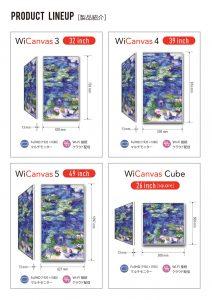 デジタルサイネージ,WiCanvas,モニタ4種類